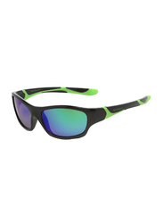 Koolsun Sport Full Rim Sunglasses for Kids, Lime Revo Lens, 3-8 Years, Black Lime