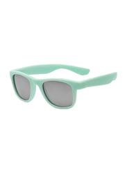 Koolsun Full Rim Wave Sunglasses Kids Unisex, Mirrored Silver Lens, KS-WABA003, 3-10 years, Bleached Aqua