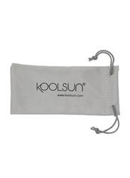 Koolsun Full Rim Sport Sunglasses for Boys, Ice Blue Revo Lens, KS-SPWHSH006, 6-12 years, White/Blue