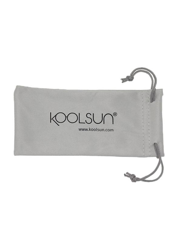 Koolsun Full Rim Sport Sunglasses Kids Unisex, Mirrored Silver Revo Lens, KS-SPWHCA006, 6-12 years, White/Cabaret