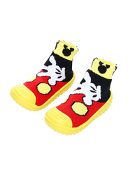 Cool Grip Mickey Mouse Baby Shoe Socks Unisex, Size 23, 36-48 Months, Yellow