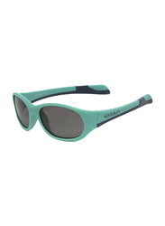 Koolsun Fit Full Rim Sunglasses for Kids, Smoke Lens, 3-6 Years, Aqua Sea Navy