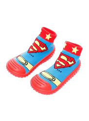 Cool Grip SuperMan Baby Shoe Socks Unisex, Size 21, 18-24 Months, Red