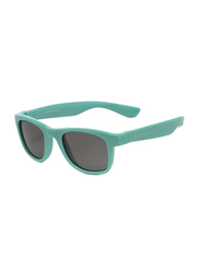 Koolsun Wave Full Rim Sunglasses for Kids, Smoke Lens, 3-10 Years, Aqua Sea