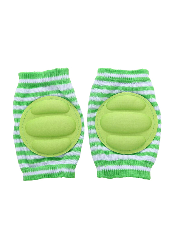 B-Safe Protective Stripes Knee Pads Unisex, Cotton, 18-24 Months, Green