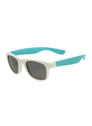 Koolsun Wave Full Rim Sunglasses for Kids, Smoke Lens, 1-5 Years, White Aquarius