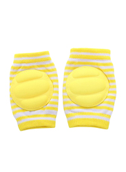 B-Safe Protective Stripes Knee Pads Unisex, Cotton, 18-24 Months, Yellow