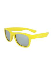 Koolsun Full Rim Wave Sunglasses Kids Unisex, Mirrored Silver Lens, KS-WAGR001, 1-5 years, Orche Green Rod