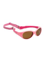 Koolsun Full Rim Flex Sunglasses for Girls, Mirrored Silver Lens, KS-FLPS000, 0-3 years, Hot/Pink