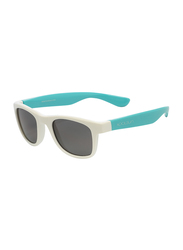 Koolsun Wave Full Rim Sunglasses for Kids, Smoke Lens, 3-10 Years, White Aquarius