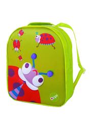 Oops Easy Backpack Bag for Kids, Lucky (Ladybug), Green