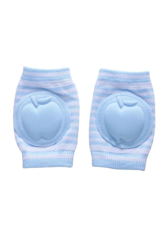 B-Safe Apple Stripes Knee Pads Unisex, Cotton, 18-24 Months, Blue