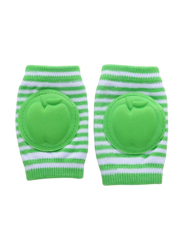 B-Safe Apple Stripes Knee Pads Unisex, Cotton, 18-24 Months, Green