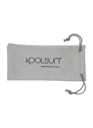 Koolsun Full Rim Flex Sunglasses for Boys, Mirrored Silver Lens, KS-FLBL003, 3-6 years, Blue/Lime