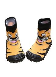 Cool Grip Tiger Orange Baby Shoe Socks Unisex, Size 23, 36-48 Months, Green