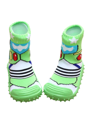 Cool Grip Dragonfly Baby Shoe Socks Unisex, Size 23, 36-48 Months, Green