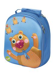 Oops Easy Trolley Bag for Kids, Chocolat Au Lait (Bear), Blue
