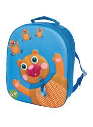 Oops Easy Backpack Bag for Kids, Chocolat Au Lait (Bear), Blue