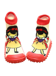 Cool Grip SnowWhite Baby Shoe Socks Unisex, Size 23, 36-48 Months, White