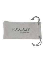 Koolsun Full Rim Sport Sunglasses Kids Unisex, Mirrored Silver Revo Lens, KS-SPWHCA003, 3-8 years, White/Cabaret