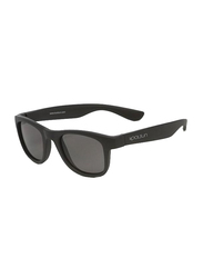 Koolsun Wave Full Rim Sunglasses for Kids, Smoke Lens, 3-10 Years, Matte Black