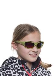 Koolsun Full Rim Sport Sunglasses Kids Unisex, Mirrored Orange Revo Lens, KS-SPOLBR003, 3-8 years, Army Green/Taos Taupe