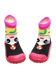 Cool Grip Girl Pink Baby Shoe Socks for Girls, Size 23, 36-48 Months, Pink