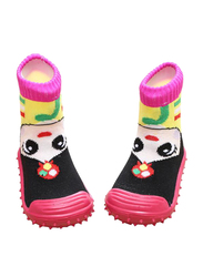 Cool Grip Girl Pink Baby Shoe Socks for Girls, Size 22, 24-36 Months, Pink