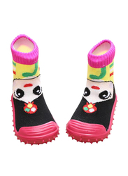 Cool Grip Girl Pink Baby Shoe Socks for Girls, Size 19, 9-12 Months, Pink