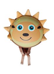 Oops My Oval Backpack Bag for Kids, Hedgehog, Brown