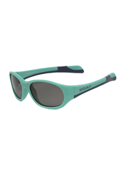Koolsun Fit Full Rim Sunglasses for Kids, Smoke Lens, 1-3 Years, Aqua Sea Navy