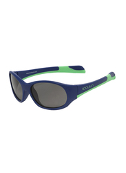 Koolsun Fit Full Rim Sunglasses for Kids, Smoke Lens, 1-3 Years, Navy Spring Bud