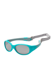 Koolsun Full Rim Flex Sunglasses for Boys, Mirrored Silver Lens, KS-FLAG000, 0-3 years, Aqua/Grey