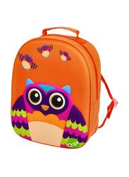 Oops Easy Backpack Bag for Kids, Mr. Wu (Owl), Orange