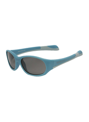 Koolsun Fit Full Rim Sunglasses for Kids, Smoke Lens, 3-6 Years, Cendre Blue Grey