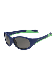 Koolsun Fit Full Rim Sunglasses for Kids, Smoke Lens, 3-6 Years, Navy Spring Bud
