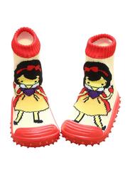 Cool Grip SnowWhite Baby Shoe Socks Unisex, Size 19, 9-12 Months, White