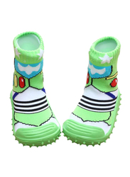 Cool Grip Dragonfly Baby Shoe Socks Unisex, Size 20, 12-18 Months, Green