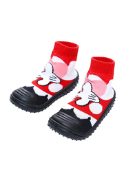 Cool Grip Minnie Mouse Baby Shoe Socks Unisex, Size 19, 9-12 Months, Red