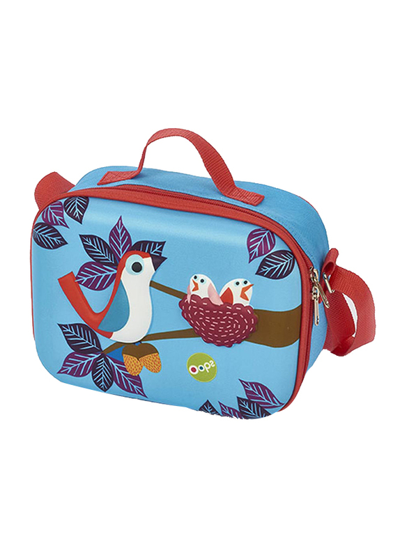 Oops Happy Snack Lunch Bag for Babies, Pio Pio (Bird), Blue