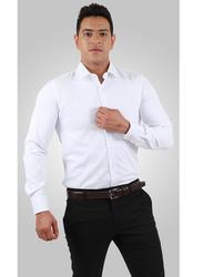 Mosaique Long Sleeve Shirt for Men, Double Extra Large, White