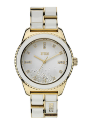 Storm Analog Watch for Women with Stainless Steel Band, ST-47213/GD, White-White