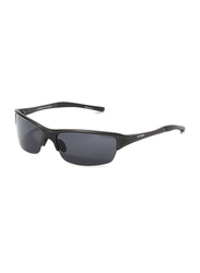 Oxygen Half Rim Sport Sunglasses for Men, Black Lens, OX8995-C3, 65/17/125