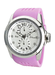 Jacques Farel Analog Unisex Watch with Rubber Band, Chronograph, ATL6000, Lavender-Grey