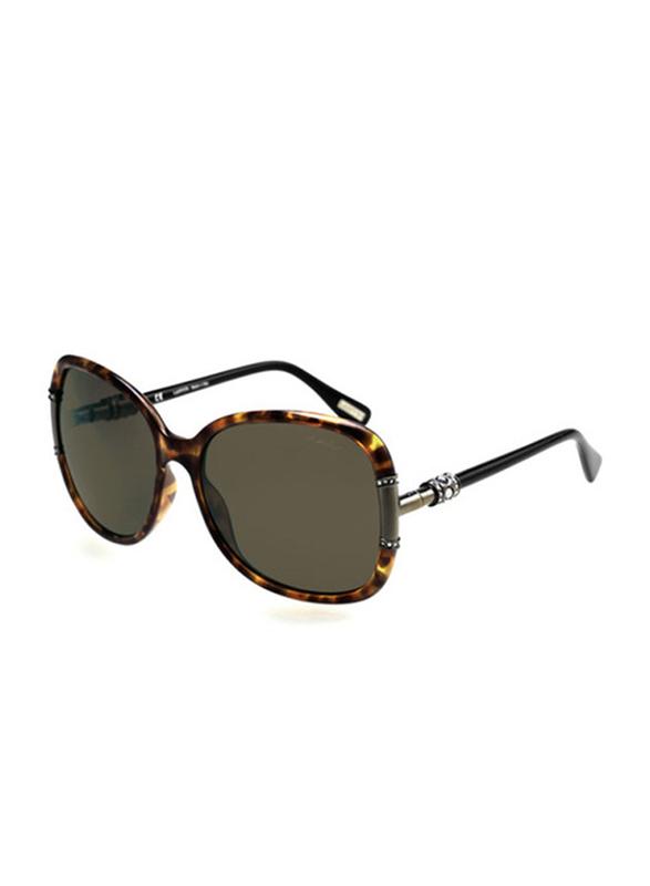 Lanvin Full Rim Butterfly Sunglasses for Women, Brown Lens, SLN508S-60-778, 60/17/130