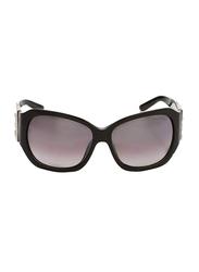 Gf Ferre Full Rim Square Sunglasses for Women, Grey Lens, GF971-01, 62/17/120