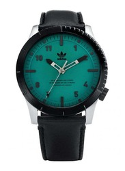 Adidas Cypher LX1 Analog Watch for Men with Leather Band, Water Resistant, Z06-2960-00, Black-Green