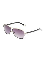 Maxima Full Rim Rectangular Sunglasses for Men, Grey Lens, MX0015-C3, 61/11/135