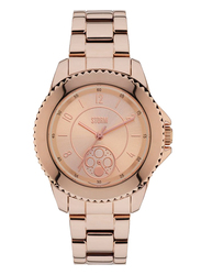 Storm Analog Watch for Women with Stainless Steel Band, Water Resistant and Chronograph, ST-47253/RG, Rose Gold