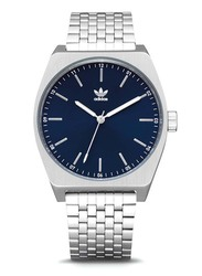 Adidas Process M1 Fashion Analog Unisex Watch with Stainless Steel Band, Water Resistant, Z02-2928-00, Silver-Blue